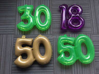 colored inflatable number stickers inflatable air hanging numbers