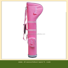 Personalized ladies pink pencil golf bag