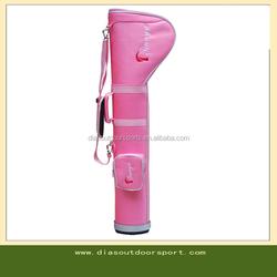custom pink pencil golf bag for ladies