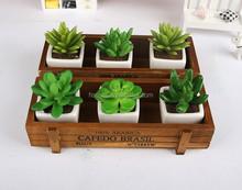 Retro Vintage Wood Home Decor Storage Container Box Case .Micro landscape flower pot.