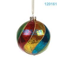 glass christmas colored handicraftstree balls