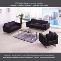 Leather sofa set design 8028B#, modern sofa set design, office sofa set design