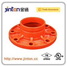 FM UL Approved Firefighting Grooved Pipe Accessories Adaptor Flange PN16/ANSI Class 150