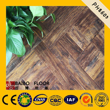 factory wood laminated square parquet flooring