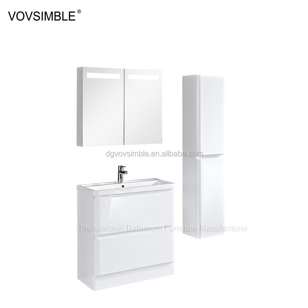 흰색 현대 욕실 세면대 나무 문 서랍 형, 유럽 현대 욕실 세면대 ...