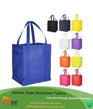 Grocery Tote Shopping Bag - Reinforced Base Reusable Non Woven Shopper Coloured
