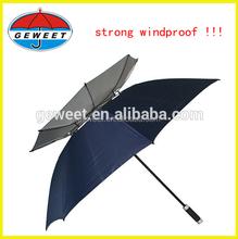 2015 advertising good quality market fiberglass frame wind resistant umbrella