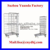 YD-L003 Logistics Cart/Rolling Security Cage/Metal Cage Storage Container