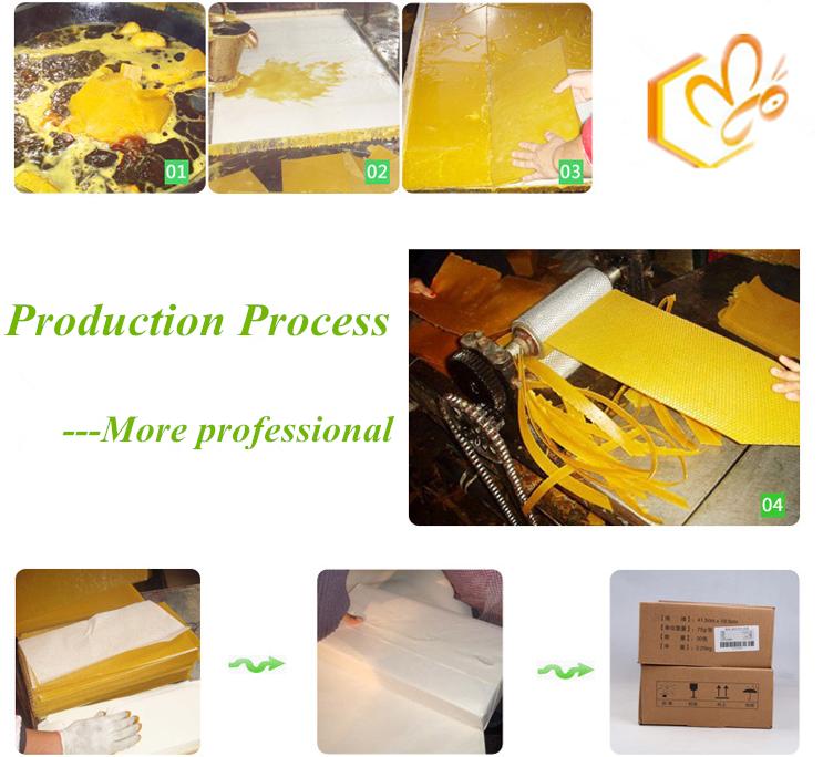 5.4 мм природных и пластика пчелиный воск гребень основой лист с FDA сертификат ISO
