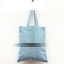 Elegant blue china blank canvas wholesale tote bags