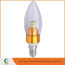 Ultra bright LED Lighting For Crystal Lamp E14 E27 B22 3W led candle lamp
