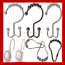 unique shower curtain hooks,shower curtain track hooks,Stainless steel curtain hooks