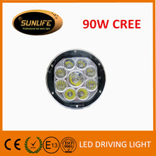 Auto parts 7 inch 90w round led driving light 5760lm led off road light for ATV,UTV,TRUCK ,4x4 off road LED driving light
