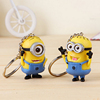 NEW Despicable Me 3D silicone bracelet keyring 3D rubber Minions keychain