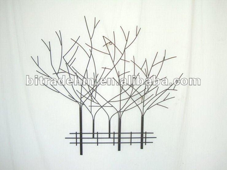 D coration murale m tal arbre artisanat en m tal id du for Decoration murale arbre
