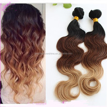 8A factory wholesale cheap high quality peruvian virgin ombre human hair extention