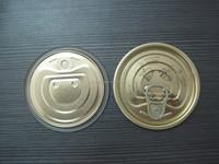Tinplate Full Open Easy Open Lids 300#73mm for Vegetable/Fruit Cans