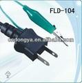 El japón 2-pin en espiral de color de alimentación retráctil de cable de extensión para adaptador de ca