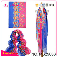 Colorful Geometric 30D Silk Chiffon Long Scarves Wholesale Scarf