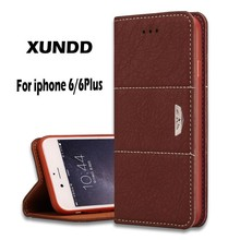FL3629 Xundd Newest Flip Leather Case For iPhone 6 Plus,For iPhone 6 Leather Case