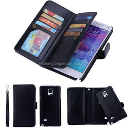 Good function mobile phone case card holder wallet phone case wallet wholesale phone case for samsung galaxy note 4