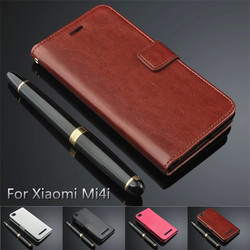 For Xiaomi Mi4i Flip Pu Leather Folio Case Cover Xiaomi Mi 4i Walle Case With 3 Credit Cards Slots