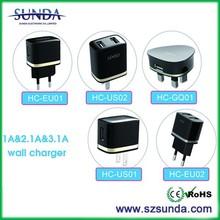 Free Logo print US plug usb wall charger 2A for smart phone