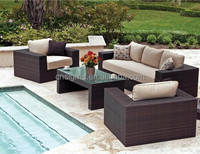 2015 New Product Outdoor Garden Wicker Pool Furniture Poland 4 Pieces Sofa Set SGD-13338A
