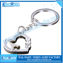Wedding favors cheap custom metal keychain/keyring in bulk