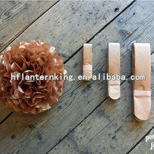 Metallic Rose Gold pom pom with 3 sizes