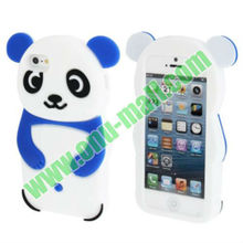 New Arrival Lovely 3D Panda Style Silicon Case for iPhone 5S & 5(Baby Blue)