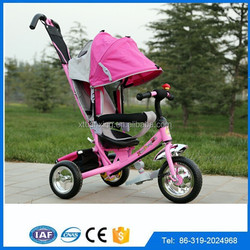 2015 Hot Sale Baby Tricycle with back seat, motorized Tricycle for sale kids,new model two seats Baby trike tricycle with canopy