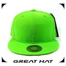 2015 New arrival cheap flat caps, green custom snapback hats wholesale