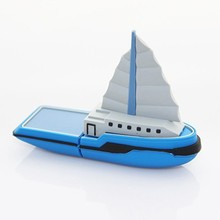 Boat shape usb flash drive with packaging box usb memory stick hot sale