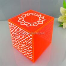 china supplier desktop square fun colored acrylic box