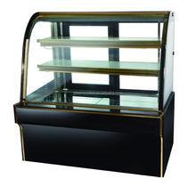 cake display fridge OEM factoryMarble Double Arc Cake Display Cabinet Chiller, Pastry Cooler Showcase
