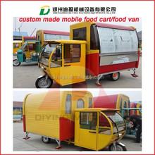 Mobile food vending van for sale/fast food mobile kitchen van