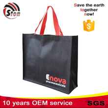 stiching sewed non woven shopping bag with customer colorful printing