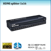 cctv video splitter 1x16 with hdmi 1.4, support uhd, 4kx2k, 1 in 16 out splitter hdmi 1.4