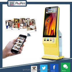 photo and advertising machine with LCD screen display for rent and vending