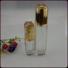 120 ml haute effacer cosmétique bouteille en verre avec pompe de pulvérisation