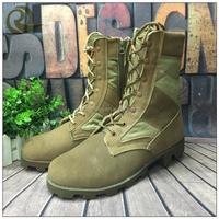 2015 hot sell custome make combat desert high gloss military boots