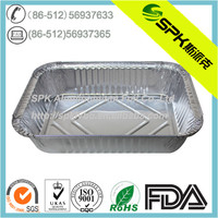 Disposable Rectangular Takeaway Aluminum Foil Food Container
