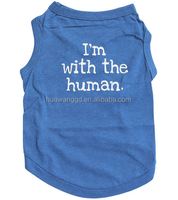 pet clothes dog summer clothes tank top with letter I'm with the human