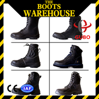 Autumn handyman Colored cow suede leather S1 Anti-Slip safety boots plastic toe cap