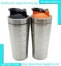 2015 new products 700ml 25oz BPA free tritan stainless steel water bottle custom shaker cup shaker bottle