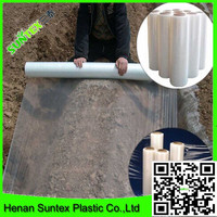 china factory black&white covering mulch film/agricultural clear plastic mulch film