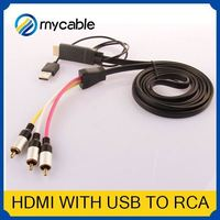 HDMI to 5 RCA RGB Component Cable db9 to rca cable HDTV Cord Audio AV Video Converter
