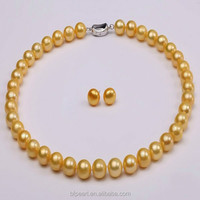 11-12mm Cheap Pearl Necklace and Earrings Set