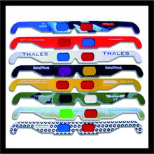 2015 new oem 3d glasses custom promotional cheap 3d paper glasses